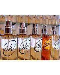 Frascos de perfumes de la franquicia Oh! B&S Parfums.Oh! B&S Parfums.