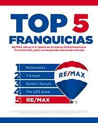 Re/Max, en el Top 5 de las 500 mejores franquicias del ... - photo#18